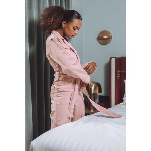 Combinaison Pantalon Jean À Ceinture - Pink - Paola Locatelli x NA-KD - Modalova
