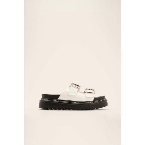 NA-KD Shoes Boucle Sandales - White - NA-KD Shoes - Modalova