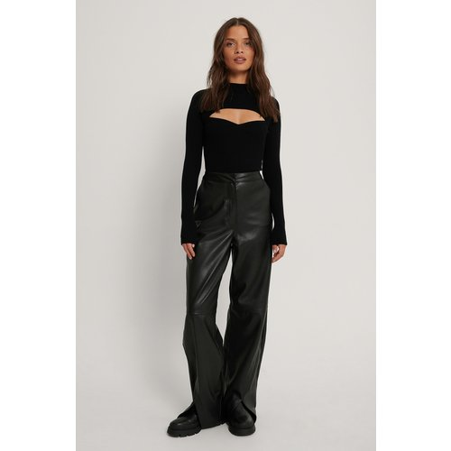 Pantalon Faux Cuir - Black - Queen of Jetlags x NA-KD - Modalova