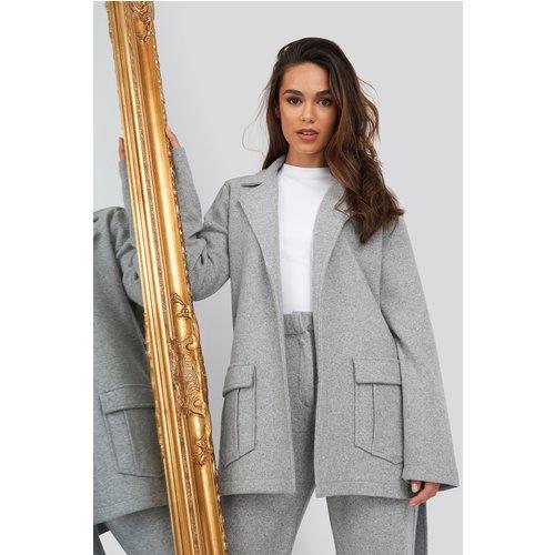 Front Pocket Oversized Blazer - Grey - Romy x NA-KD - Modalova