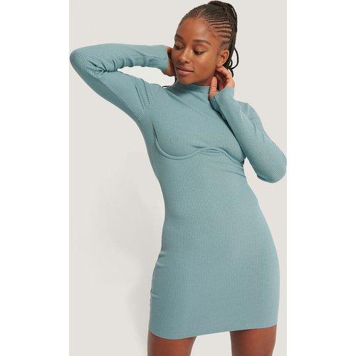 Robe Jersey Col Haut - Blue - Romy x NA-KD - Modalova