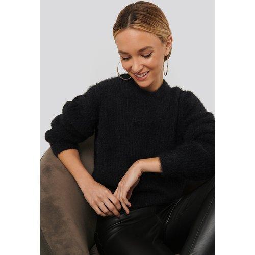 Knitted Roundneck Sweater - Black - Sara Sieppi x NA-KD - Modalova