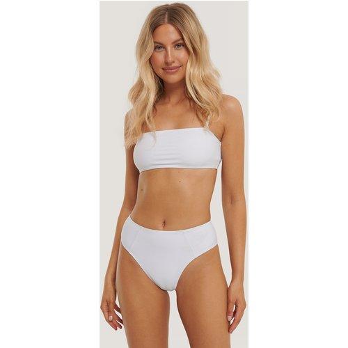 Culotte De Bikini Taille Échancrée - White - Statement By NA-KD Influencers - Modalova