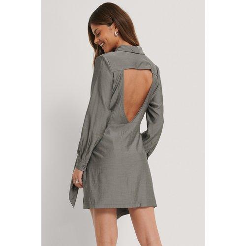 Robe Dos Ouvert - Grey - Stéphanie Durant x NA-KD - Modalova