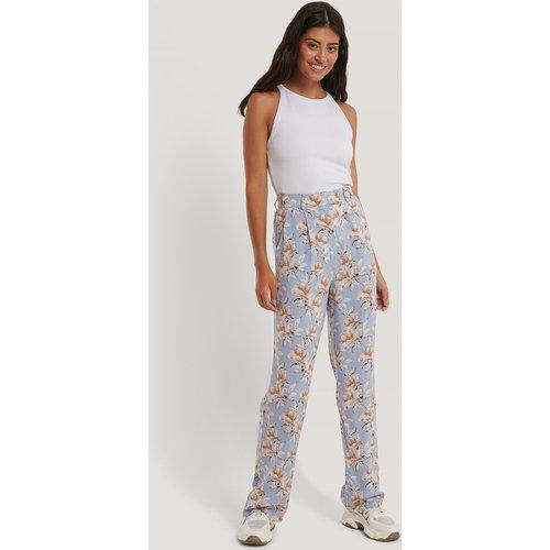 Pantalon Fluide Taille Haute - Blue - NA-KD - Modalova