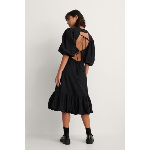 Back Detail Volume Sleeve Dress - Black - Trine Kjaer x NA-KD - Modalova