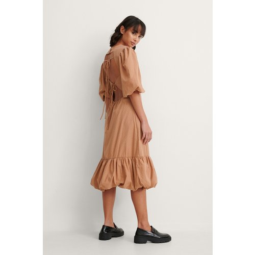 Back Detail Volume Sleeve Dress  - Trine Kjaer x NA-KD - Modalova