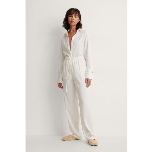 Recyclé Pantalon Noué À La Taille - White - Trine Kjaer x NA-KD - Modalova
