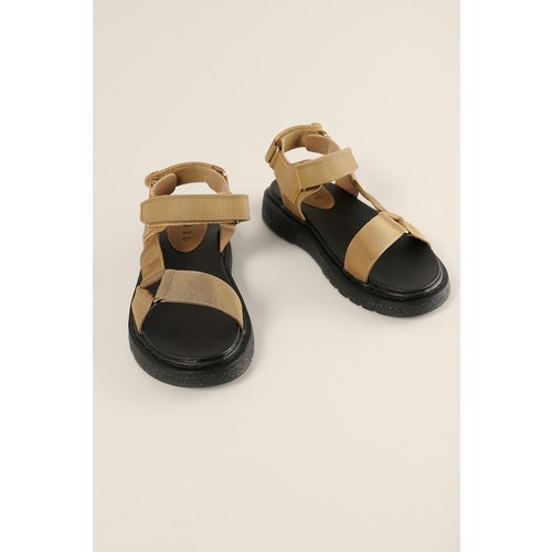 Faites En Velcro Sandales - Beige - NA-KD Shoes - Modalova