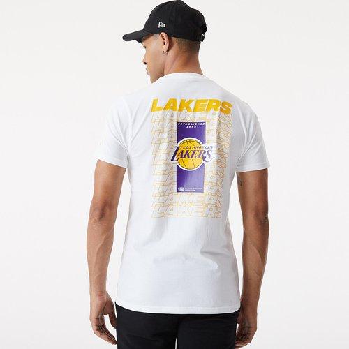 T-shirt blanc Repeat Logo desLA Lakers - newera - Modalova