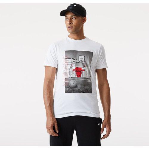 T-shirt imprimé photo des Bulls de Chicago blanc - newera - Modalova