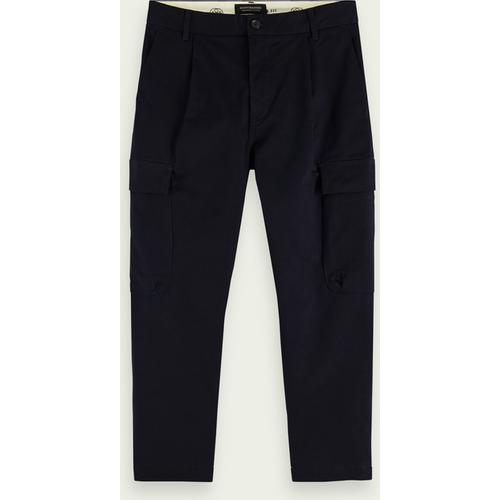 Pantalon cargo classique en coton stretch - Scotch & Soda - Modalova