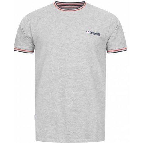 Tipped Pique s T-shirt SS4008-GM / N / R - Lambretta - Modalova