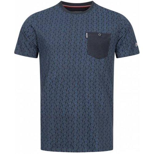 Paisley Allover Print s T-shirt SS6807-MARINE - Lambretta - Modalova