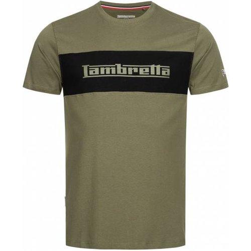 Panel Logo s T-shirt SS8294-KAKI - Lambretta - Modalova
