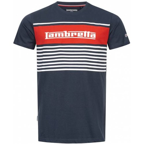 Panel Stripe s T-shirt SS7102-MARINE - Lambretta - Modalova