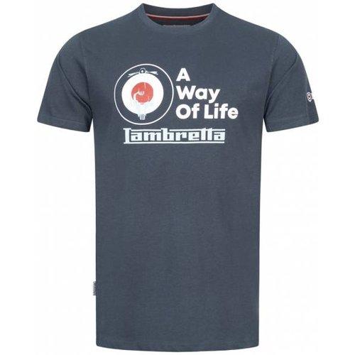 Graphic s T-shirt SS7472-NAVY - Lambretta - Modalova