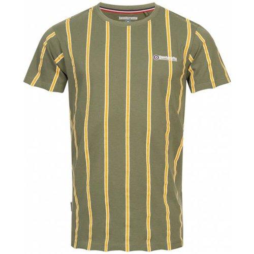 Stripe Pique s T-shirt SS5195-BEETLE / OR - Lambretta - Modalova