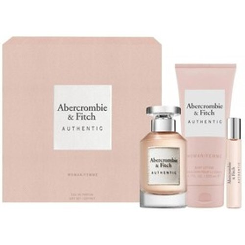 Abercrombie and Fitch Abercrombie & Fitch Authentic Woman Eau de Parfum Women's Perfume Gift Set Spray 100ml - Pink