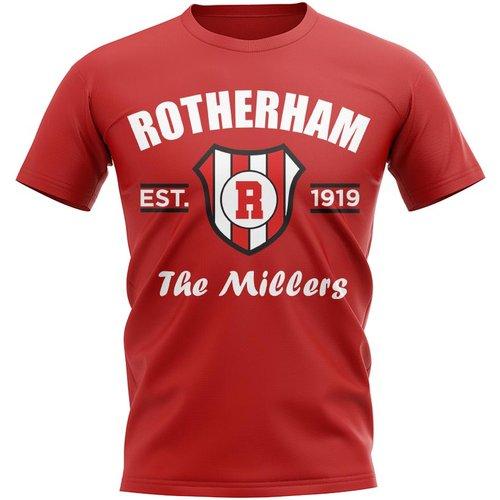 UKSoccershop Rotherham Established Football T-Shirt (Red)