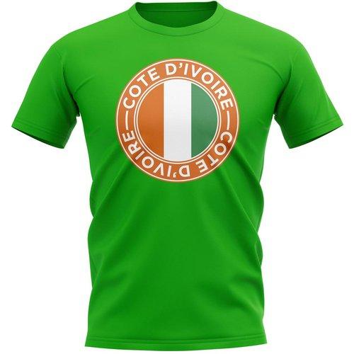 UKSoccershop Ivory Coast Football Badge T-Shirt (Green)