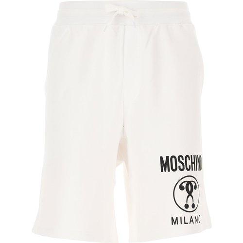 Pantalon Pas cher en Soldes, Blanc, Coton, 2019, 48 52 - Moschino - Modalova