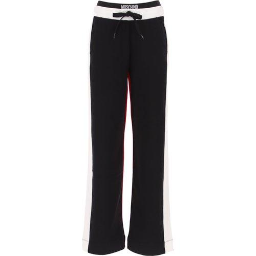 Pantalon Pas cher en Soldes, Noir, Coton, 2019, 38 40 44 M - Moschino - Modalova