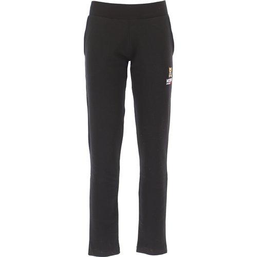 Pantalon Pas cher en Soldes, Noir, Coton, 2019, 38 40 44 46 - Moschino - Modalova