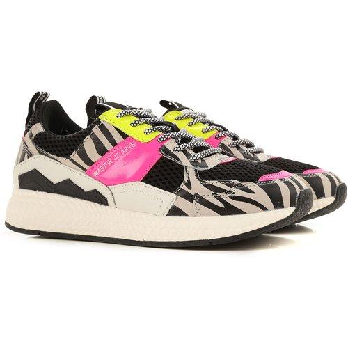 Sneaker Pas cher en Soldes Outlet, Noir, Cuir, 2019, 36 38 40 - Moa Master of Arts - Modalova
