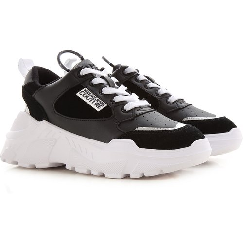 Sneaker Pas cher en Soldes, Noir, Cuir, 2019, 38 39 - Versace Jeans Couture - Modalova