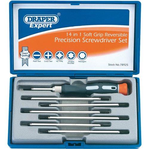 Draper Draper Expert 78925 14 in 1 Reversible Precision Screwdriver Set