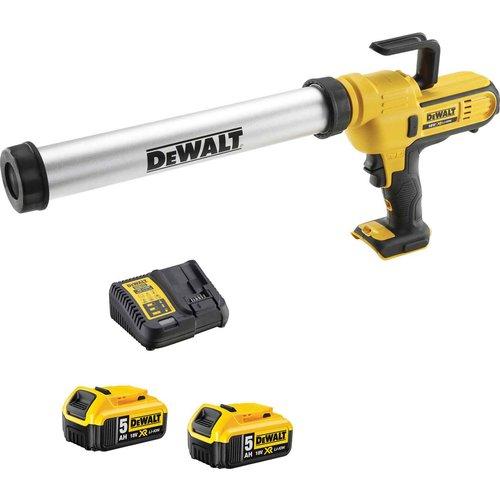 DeWalt DeWalt DCE580 18v XR Cordless Caulk Gun 2 x 5ah Li-ion Charger No Case