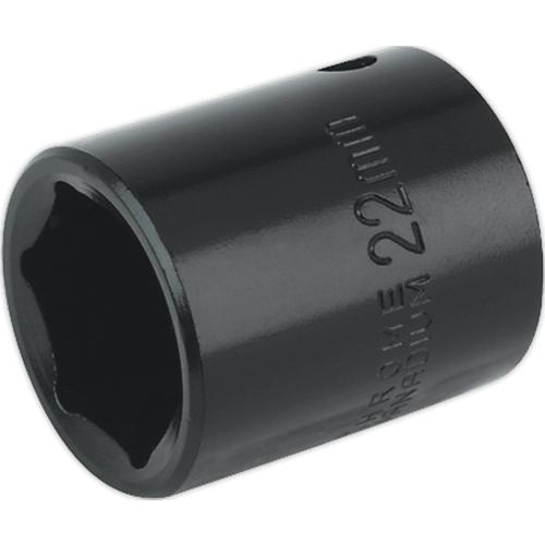 Sealey Sealey IS1222 22mm 12Sq Drive Impact Socket