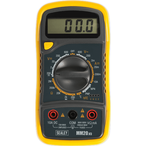 Sealey Sealey MM20 Digital Multimeter 8 Function with Thermocouple