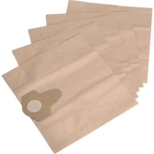 Sealey Sealey PC300PB5 Dust Collection Bag for PC300SD, PC300SDAUTO Pack of 5