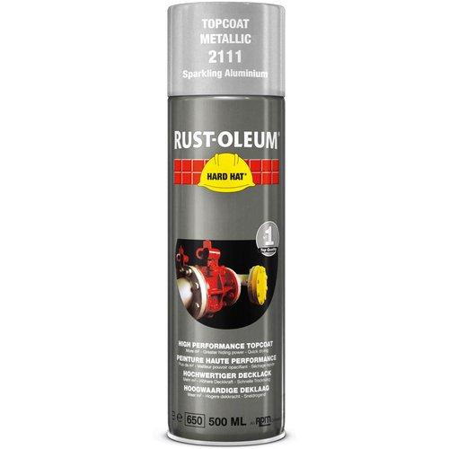 Rust Oleum Rust Oleum Hard Hat Metal Metallic Spray Paint Sparkling Aluminium 500ml