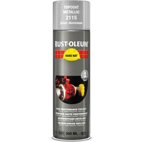 Rust Oleum Rust Oleum Hard Hat Metal Metallic Spray Paint Bright Aluminium 500ml