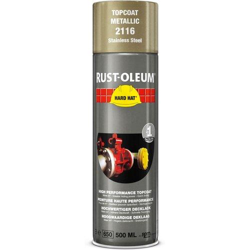 Rust Oleum Rust Oleum Hard Hat Stainless Steel Spray Paint Stainless Steel 500ml