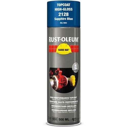 Rust Oleum RUST-OLEUM 2128 Hard Hat Topcoat Ral-Colours, The Nr. 1 Industrial Paint Aerosol. Go Further, Work Faster, Last Longer!, Sapphire blue-RAL 5003