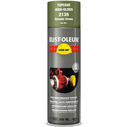 Rust Oleum Rust Oleum Hard Hat Metal Spray Paint Reseda Green 500ml