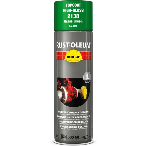 Rust Oleum RUST-OLEUM 2137 Hard Hat Topcoat Ral-Colours, The Nr. 1 Industrial Paint Aerosol. Go Further, Work Faster, Last Longer!, Moss green-RAL 6005