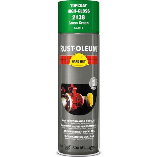 Rust Oleum Rust Oleum Hard Hat Metal Spray Paint Grass Green 500ml