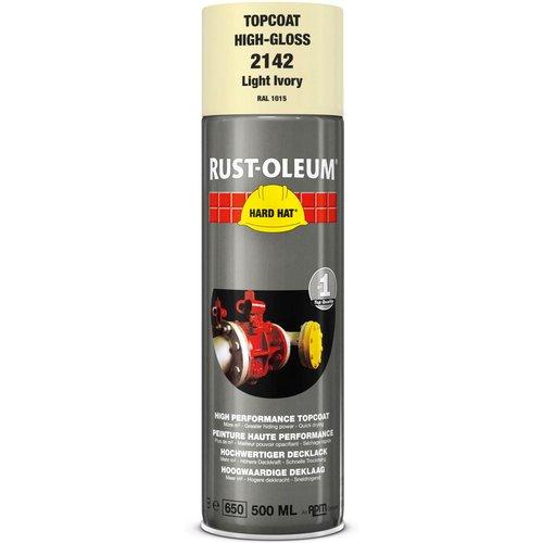 Rust Oleum Rust Oleum Hard Hat Metal Spray Paint Clear Ivory 500ml