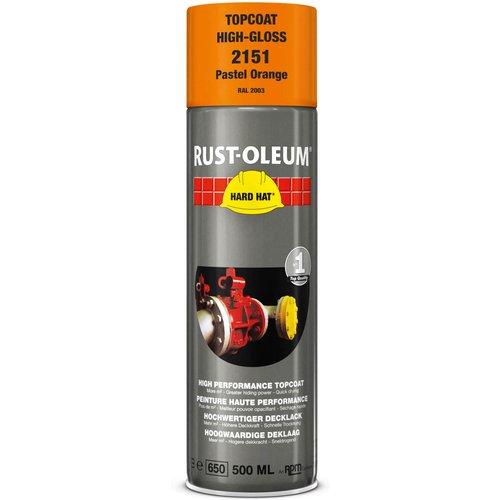 Rust Oleum Rust Oleum Hard Hat Metal Spray Paint Pastel Orange 500ml