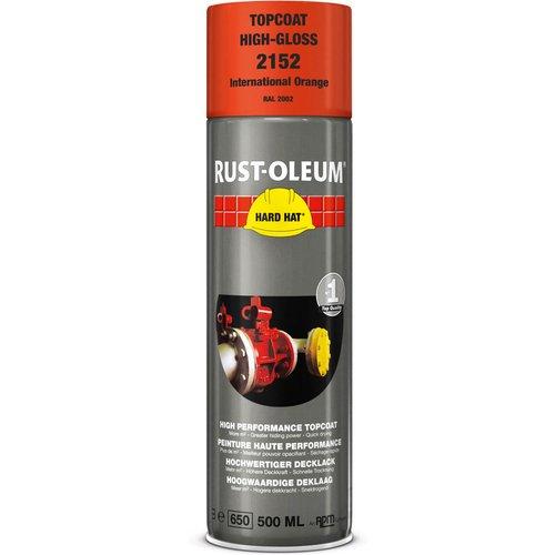 Rust Oleum RUST-OLEUM 2152 Hard Hat Topcoat Ral-Colours, The Nr. 1 Industrial Paint Aerosol. Go Further, Work Faster, Last Longer!, International orange-RAL 2002