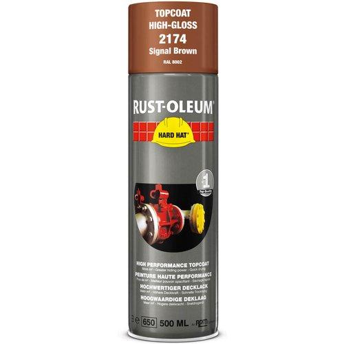 Rust Oleum Rust Oleum Hard Hat Metal Spray Paint Signal Brown 500ml