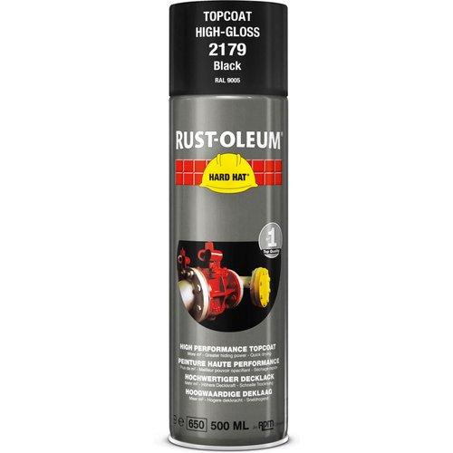 Rust Oleum RUST-OLEUM 2179 Hard Hat Topcoat Ral-Colours, The Nr. 1 Industrial Paint Aerosol. Go Further, Work Faster, Last Longer!, Gloss Black-RAL 9005