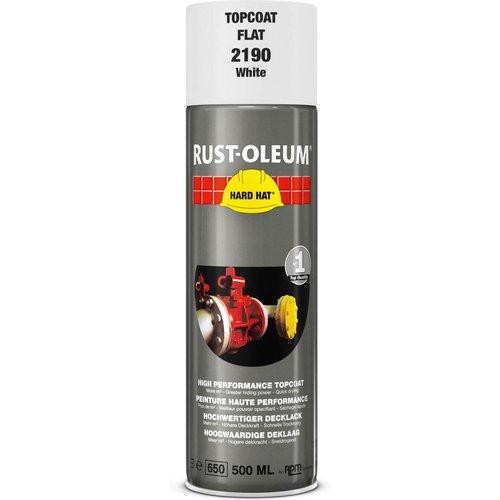 Rust Oleum Rust Oleum Hard Hat Metal Spray Paint Matt White 500ml