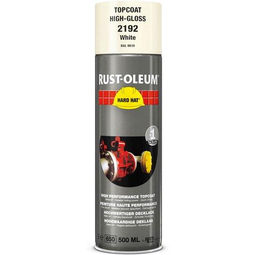 Rust Oleum RUST-OLEUM 2192 Hard Hat Topcoat Ral-Colours, The Nr. 1 Industrial Paint Aerosol. Go Further, Work Faster, Last Longer!, White-RAL 9010