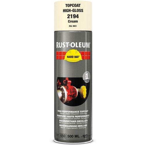 Rust Oleum RUST-OLEUM 2194 Hard Hat Topcoat Ral-Colours, The Nr. 1 Industrial Paint Aerosol. Go Further, Work Faster, Last Longer!, Cream-RAL 9001